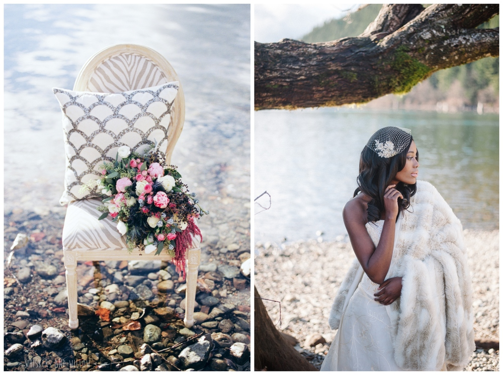 Romantic Bridal | Lakeside Romance | Couture Wedding by Kaleb Norman James | Whiskers and Willow Photography