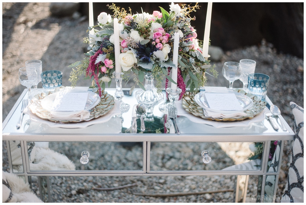 Romantic Bridal | Lakeside Romance | Couture Wedding Tabletop by Kaleb Norman James | Whiskers and Willow Photography