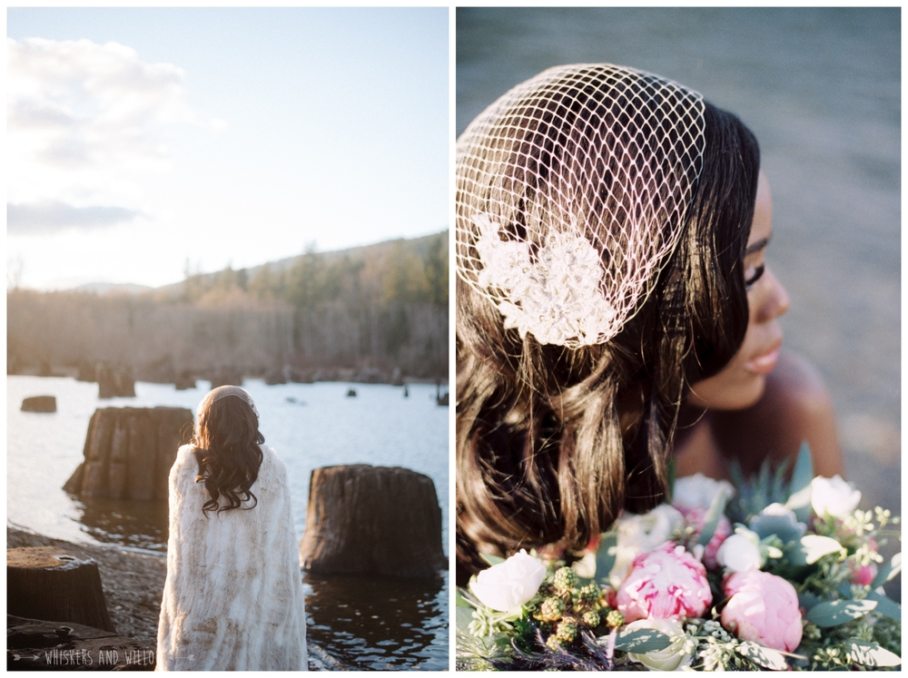 Romantic Eco Chic Bridal | Lakeside Romance | Couture Wedding by Kaleb Norman James | Whiskers and Willow Photography