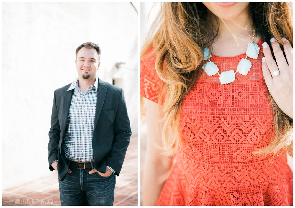 Presidio Park Engagement - Engagement Oufit - Engagement Ring - Whiskers and Willow Photography