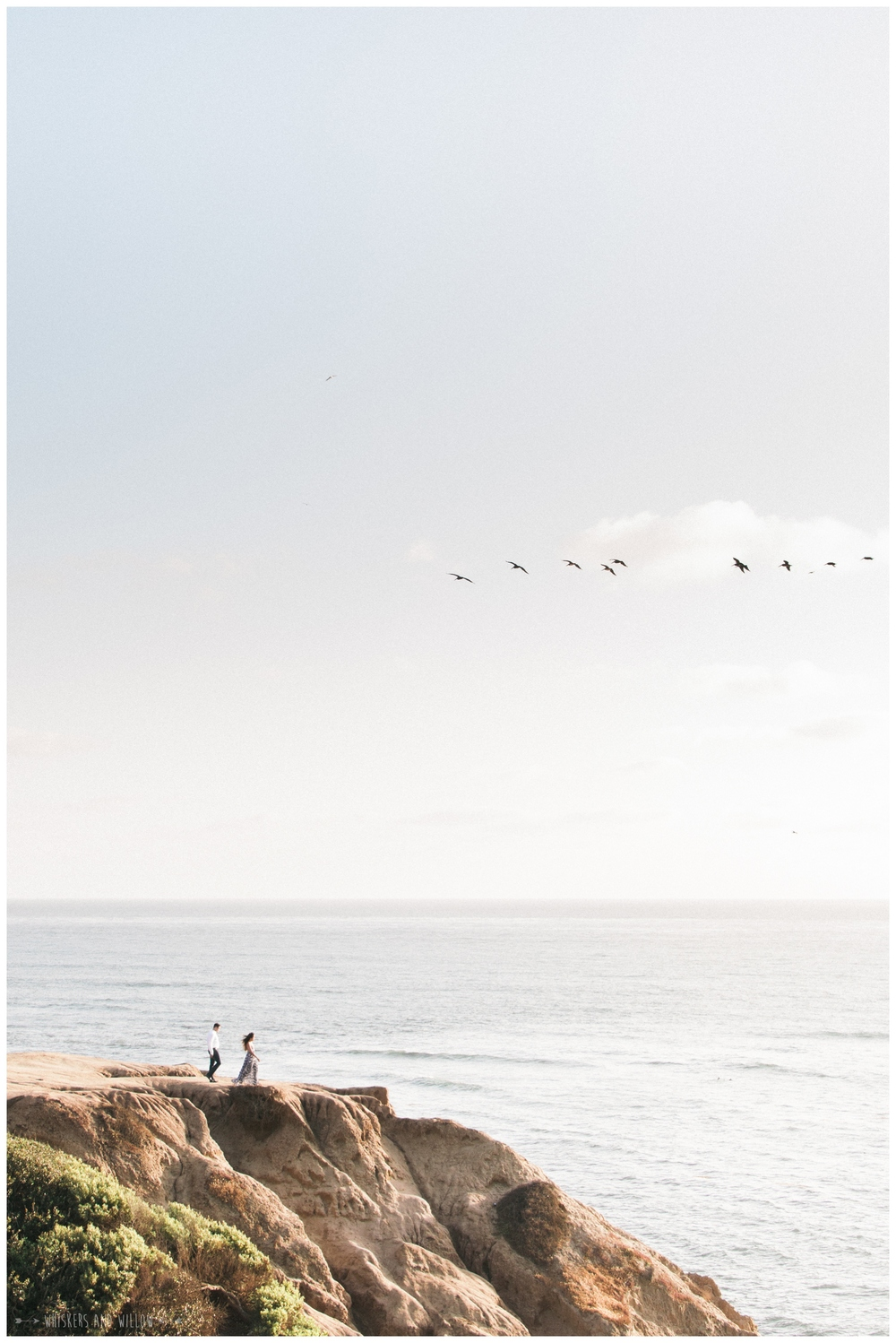 Sunset Cliffs Natural Park Engagement - Engagement Oufit - Whiskers and Willow Photography