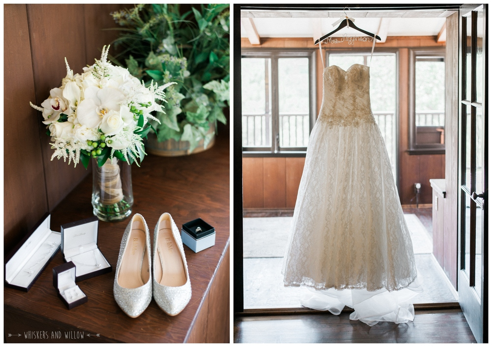 Mt Woodson Castle Wedding - White Bouquet - San Diego Wedding Photographer - Whiskers and Willow Photography