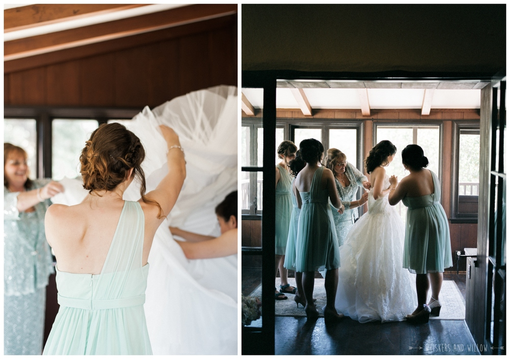Mt Woodson Castle Wedding - Sage bridesmaid dress - San Diego Wedding Photographer - Whiskers and Willow Photography