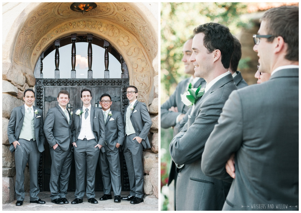 Mt Woodson Castle Wedding - Groomsmen- San Diego Wedding Photographer - Whiskers and Willow Photography