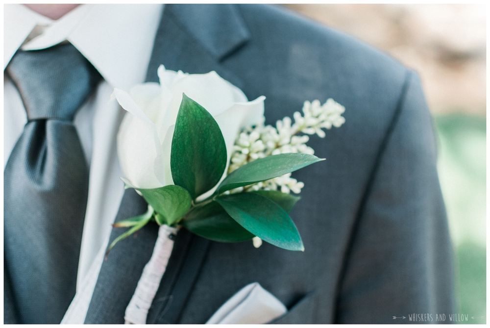 Mt Woodson Castle Wedding - Boutonniere - San Diego Wedding Photographer - Whiskers and Willow Photography