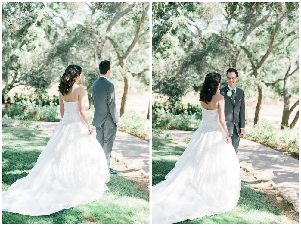 Mt Woodson Castle Wedding - First Look Photos - San Diego Wedding Photographer - Whiskers and Willow Photography