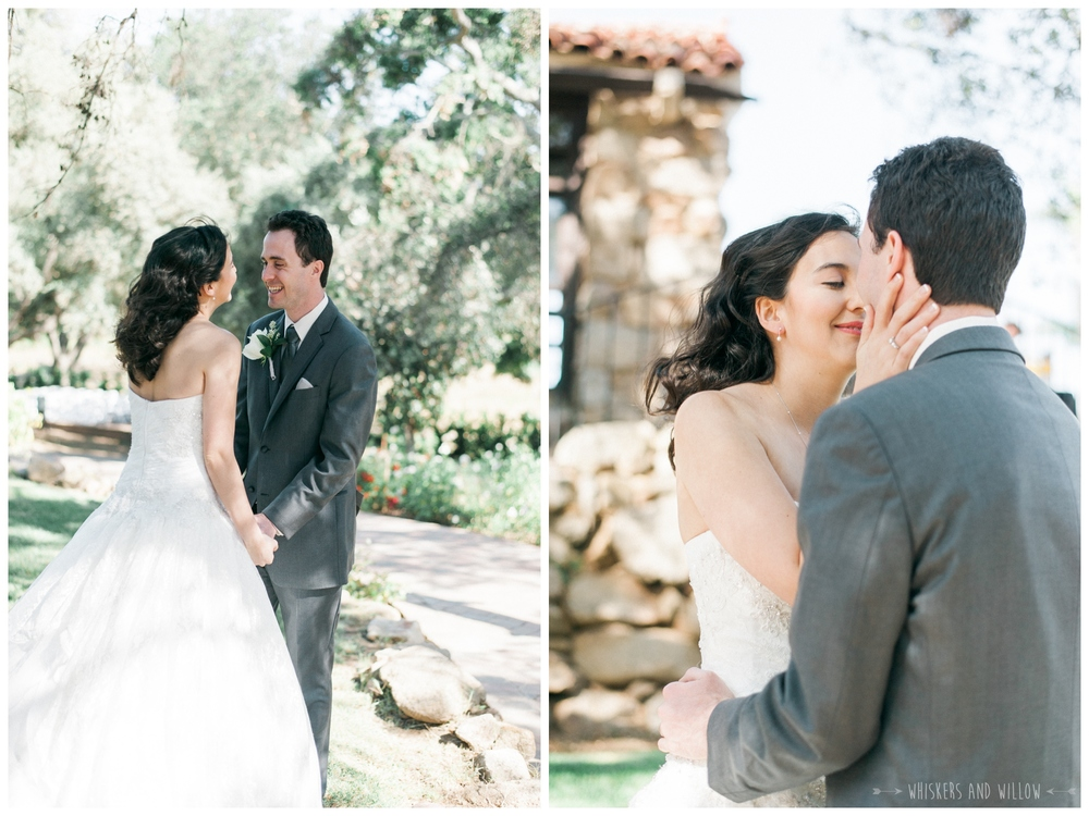 Mt Woodson Castle Wedding - First Look Photo - San Diego Wedding Photographer - Whiskers and Willow Photography