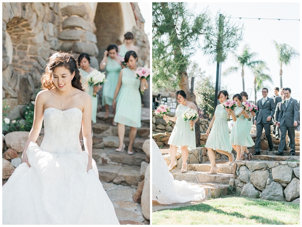 Mt Woodson Castle Wedding - Mint Bridesmaid  - San Diego Wedding Photographer - Whiskers and Willow Photography