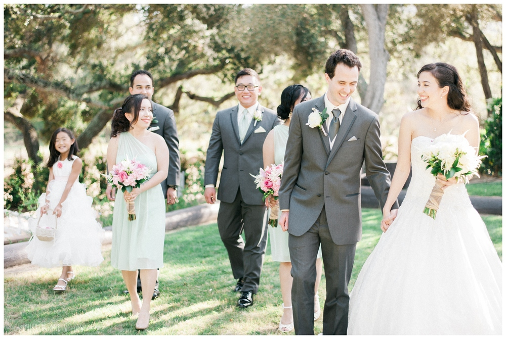 Mt Woodson Castle Wedding - Mint and Pink Bridesmaids - Groomsmen - San Diego Wedding Photographer - Whiskers and Willow Photography