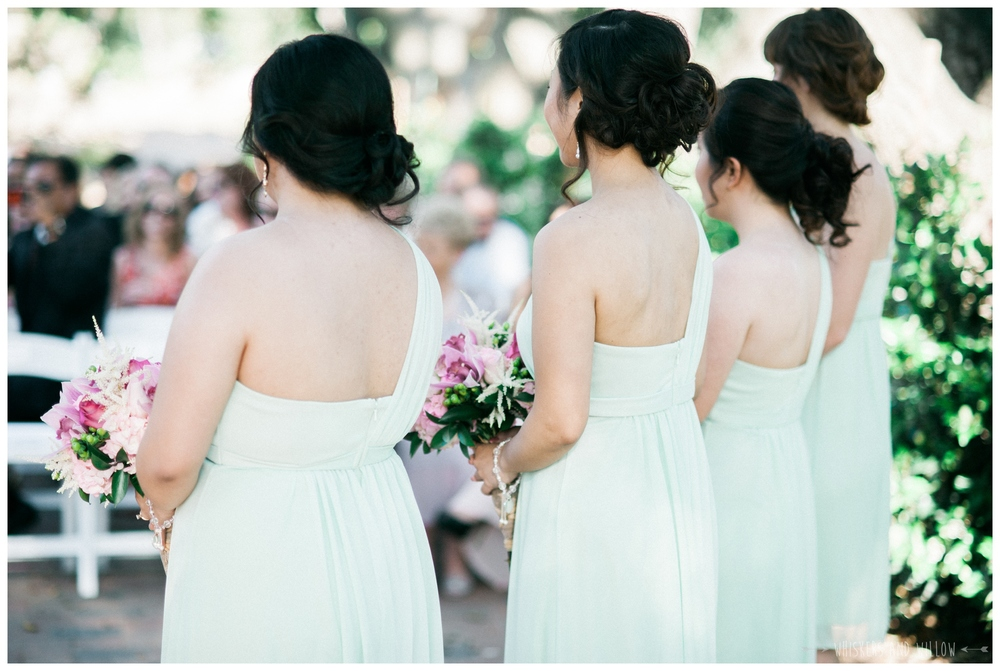 Mt Woodson Castle Wedding - Mint Bridesmaids - San Diego Wedding Photographer - Whiskers and Willow Photography