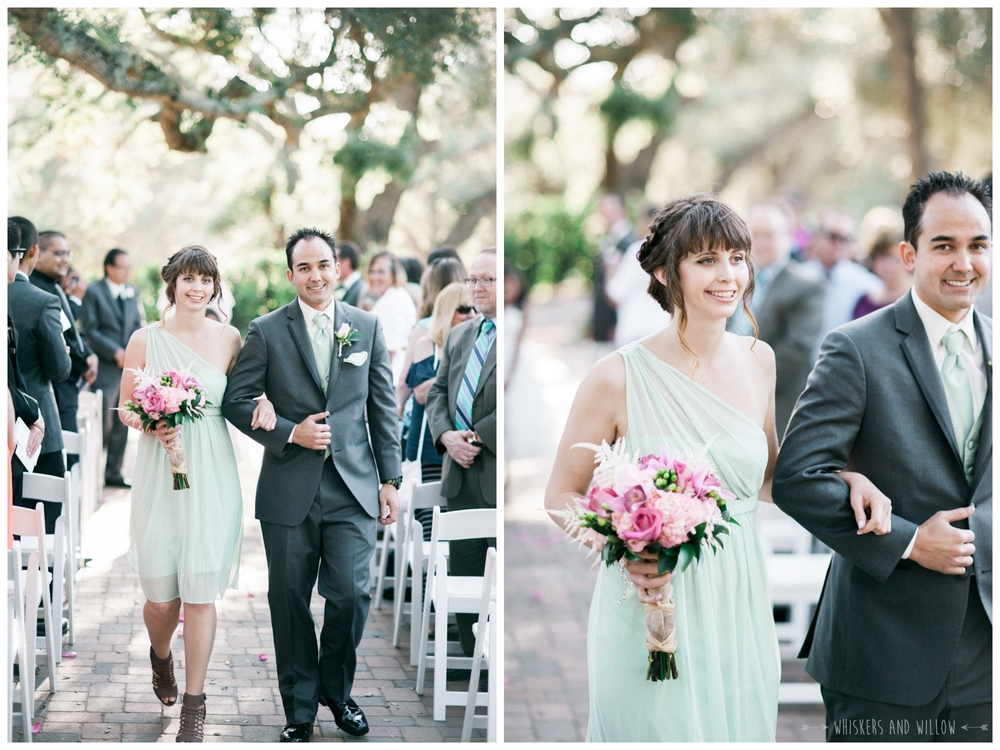 Mt Woodson Castle Wedding - Mint and Pink Bridesmaid - San Diego Wedding Photographer - Whiskers and Willow Photography