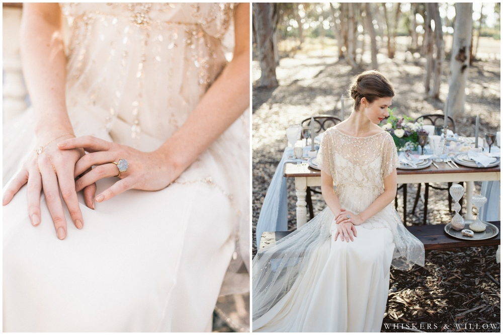 Bridal Portrait - Jenny Packham gown - Gabby Bella Jewelry - San Diego Wedding Photographer - Whiskers and Willow Photography