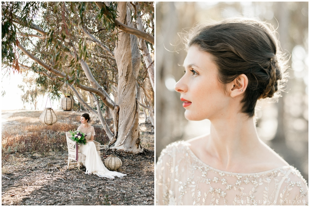 Bridal Portrait - Jenny Packham gown - Makeup and Hair by Beauty by Stacey - San Diego Wedding Photographer - Whiskers and Willow Photography