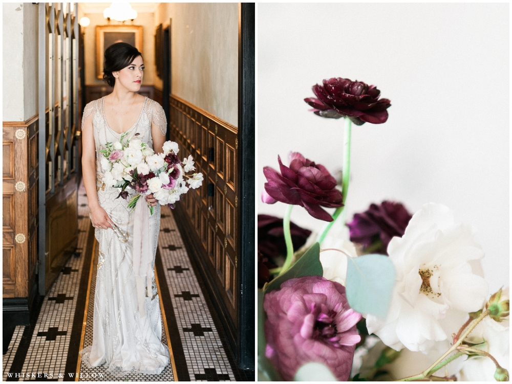 1920s Art Deco Wedding - Jenny Packham dress - Florals by Bloom Babes - Polite Provisions- San Diego - Whiskers and Willow Photography
