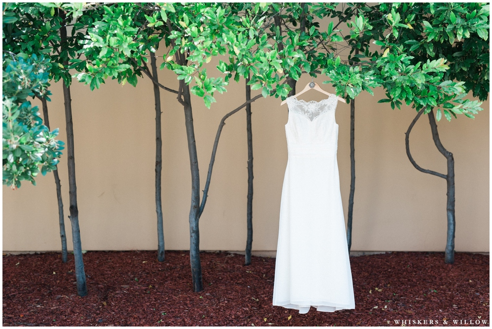 Lace Wedding Dress - San Diego Wedding Photographer - Whiskers and Willow Photography