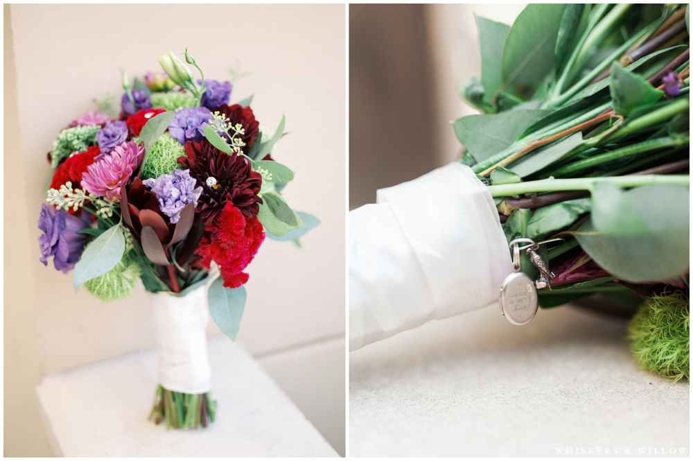 Colorful bridal bouquet - San Diego Wedding Photographer - Whiskers and Willow Photography