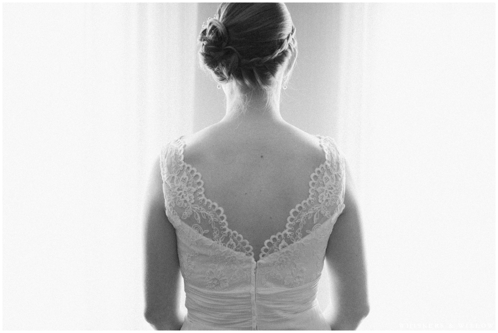 Lace Wedding Dress - Braided updo - San Diego Wedding Photographer - Whiskers and Willow Photography
