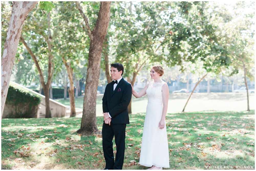 First look photo - San Diego Wedding Photographer - Whiskers and Willow Photography