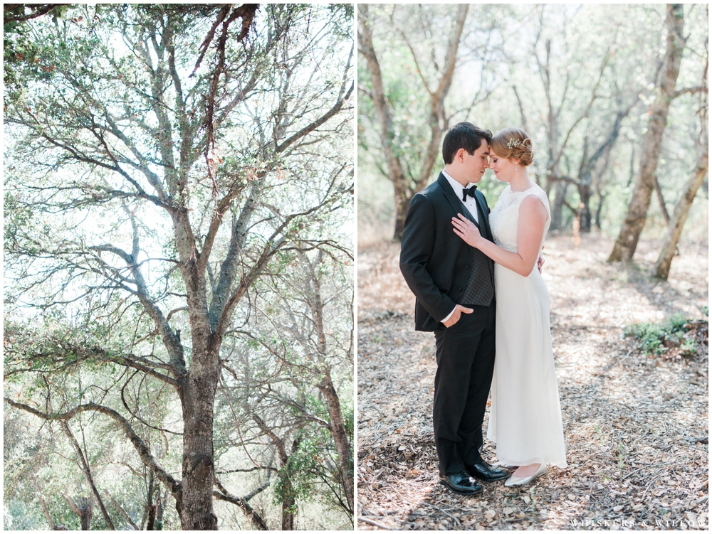 Classic Bride and Groom - Lace gown - Black Tuxedo - Bowtie - San Diego Wedding Photography - Whiskers and Willow Photography