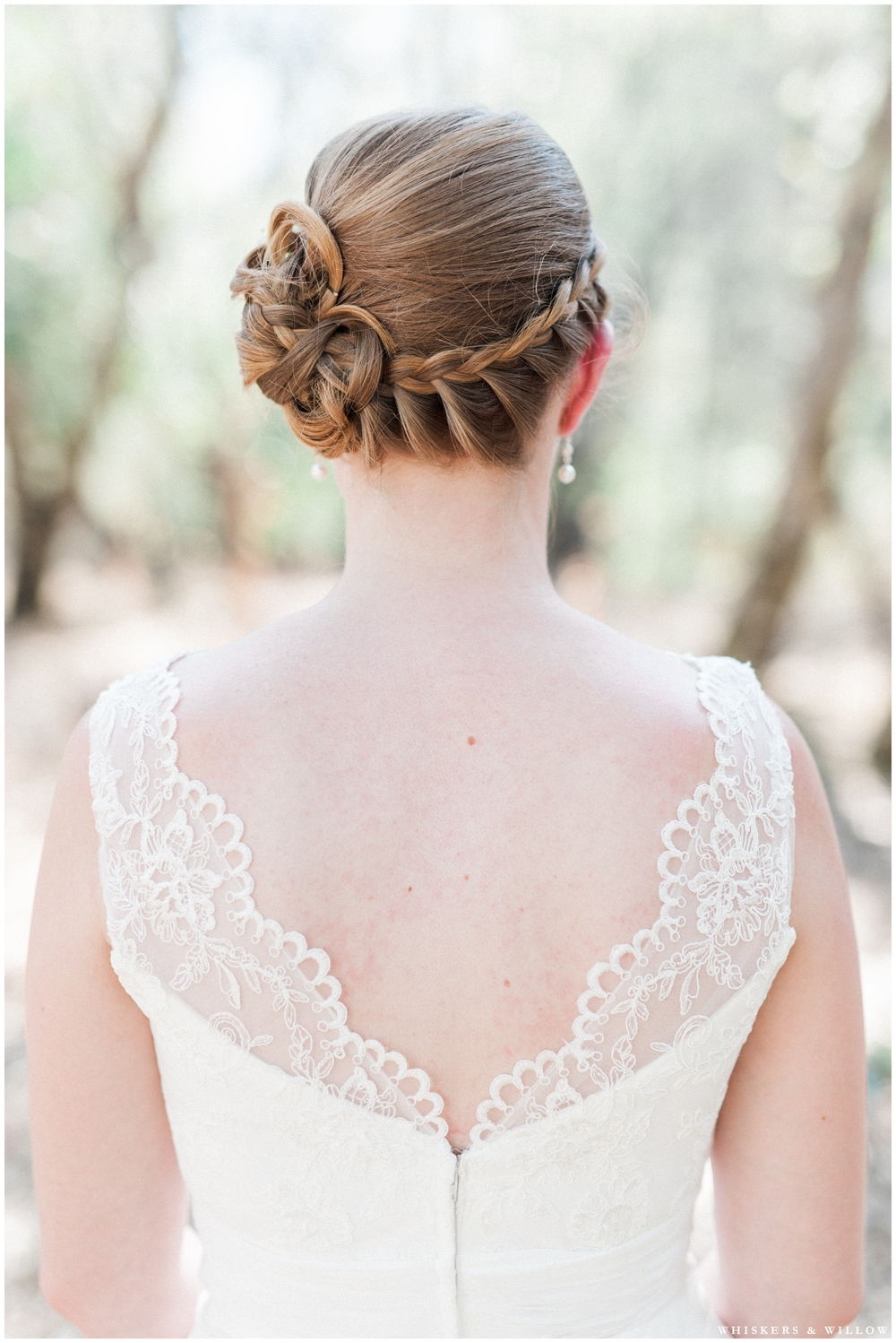 Classic Bride - Lace gown - Braided updo - San Diego Wedding Photography - Whiskers and Willow Photography