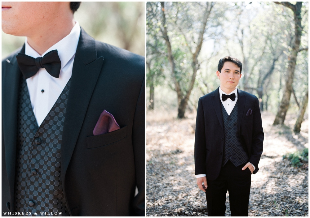 Classic Groom - Black Tuxedo - Bowtie - San Diego Wedding Photography - Whiskers and Willow Photography