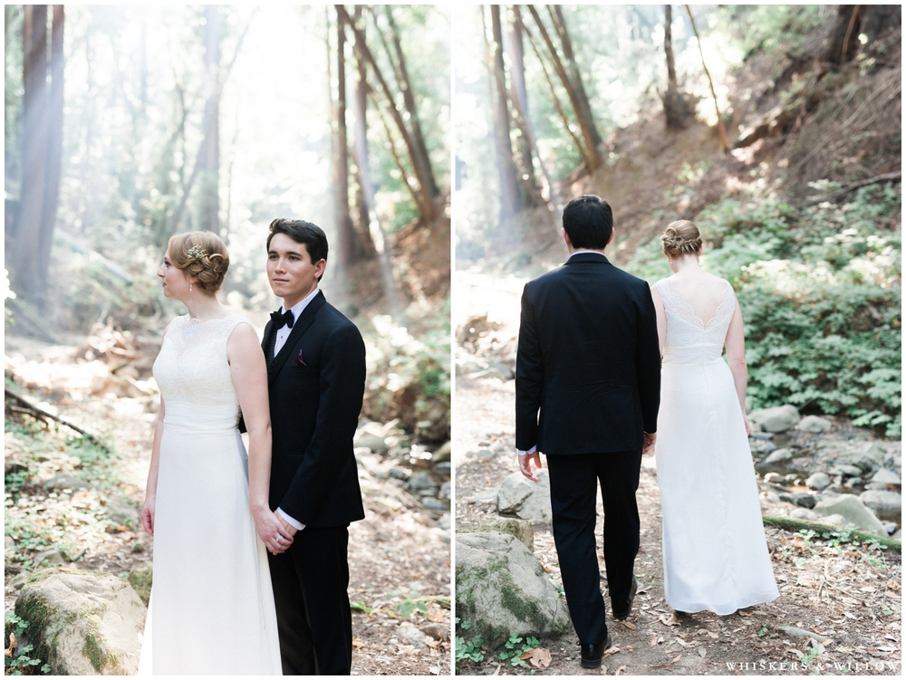 Saratoga Springs Wedding - Forest woodland wedding - classic bride and groom - Whiskers and Willow Photography