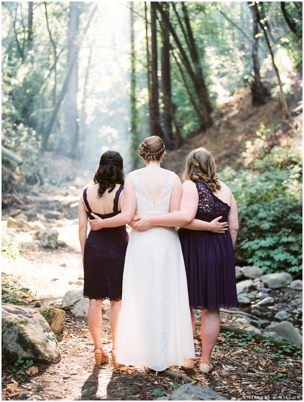 Saratoga Springs Wedding - Forest woodland wedding - classic bride - purple lace bridesmaids dress - Whiskers and Willow Photography