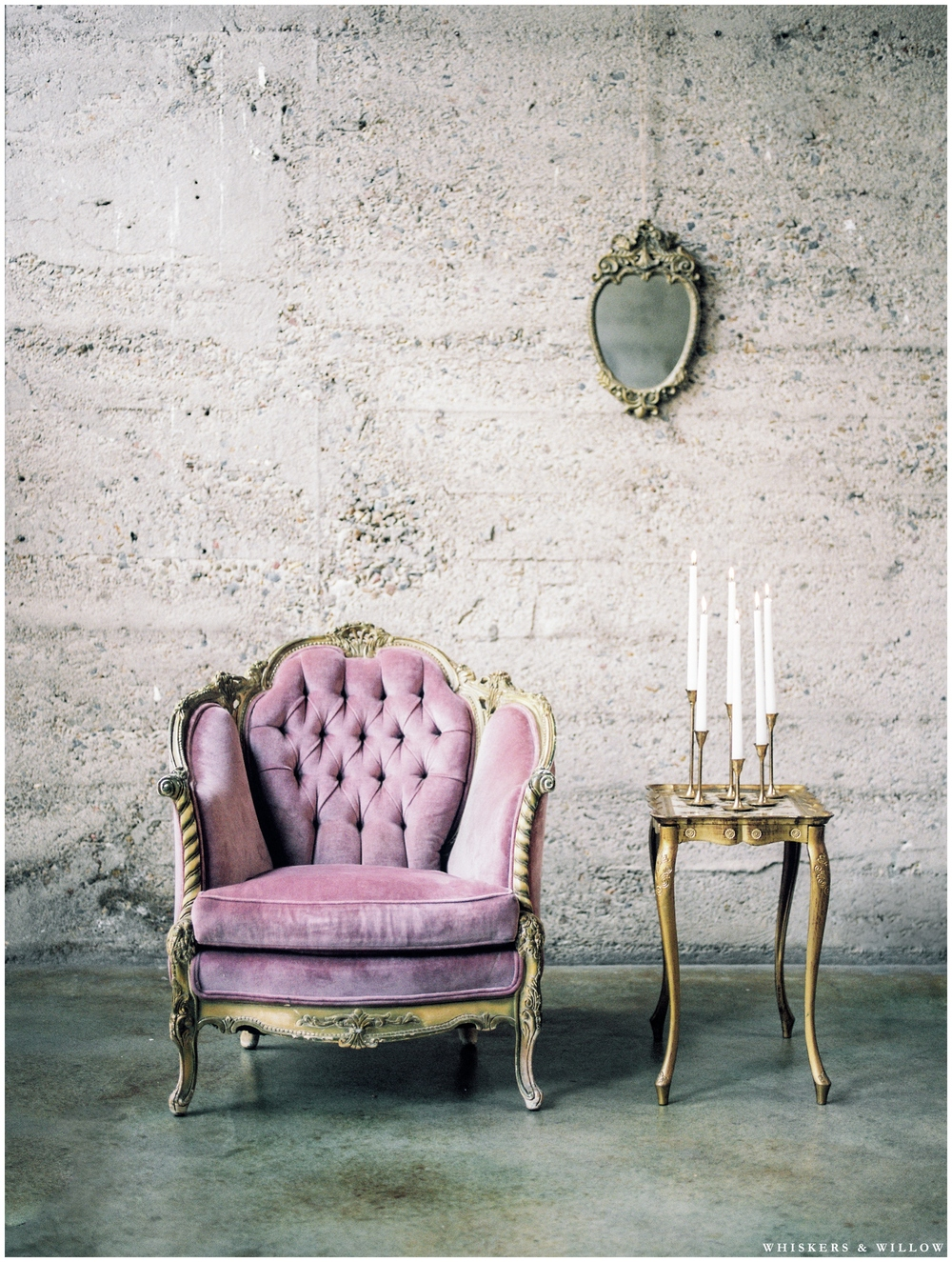 Romantic furniture rentals by Pow Wow Design Studio - Luce Loft - Whiskers and Willow Photography