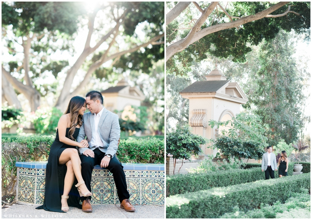 Balboa Park engagement photos | San Diego photographer | Whiskers and Willow Photography