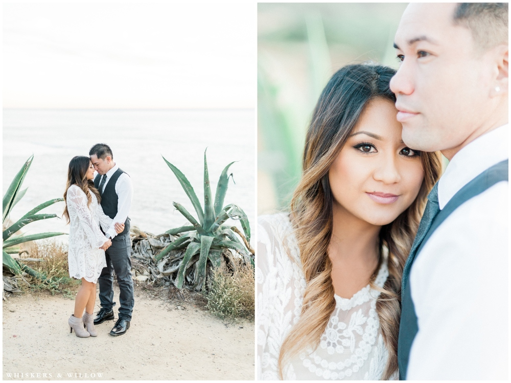 Sunset Cliffs engagement photos | San Diego photographer | Whiskers and Willow Photography
