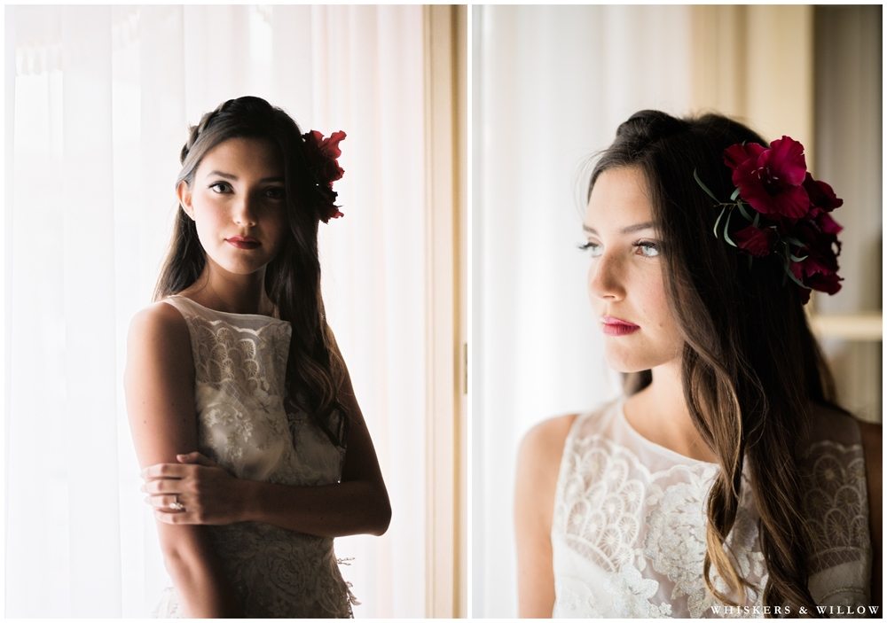 Eden by Claire Pettibone Romantique | Romantic Westgate Hotel Wedding | San Diego Fine Art Wedding Photography | Whiskers and Willow Photography