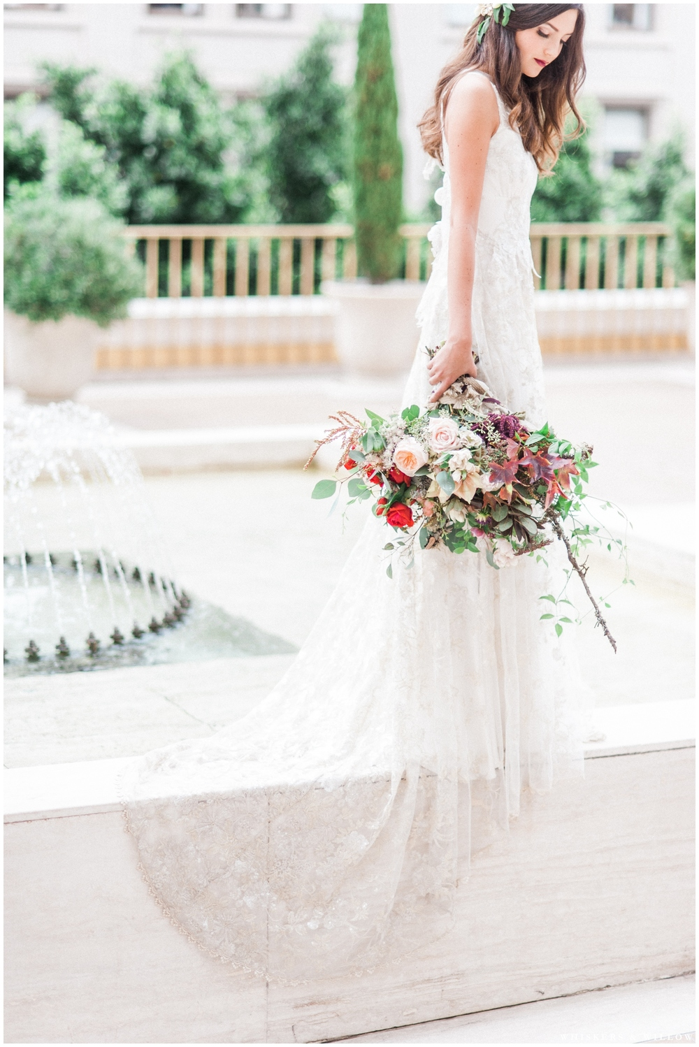 Eden by Claire Pettibone Romantique wedding gown | Bridal bouquet by Native Poppy | Romantic Westgate Hotel Wedding | San Diego Fine Art Wedding Photography | Whiskers and Willow Photography