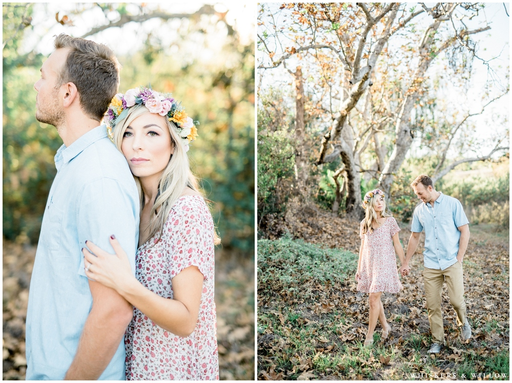 Los Penasquitos Canyon engagement | Colorful engagement | Colorful flower crown | San Diego fine art photographer | Whiskers and Willow Photography