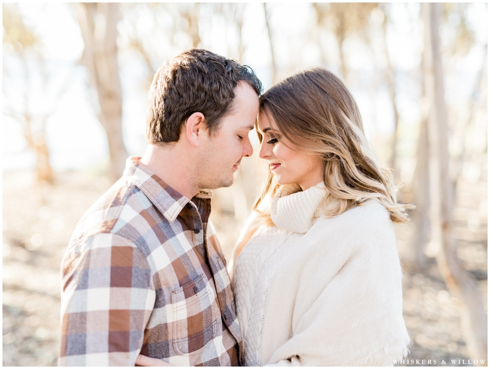 Woodsy couples photos | Neutral engagement outfit | San Diego fine art photographer | Whiskers and Willow Photography