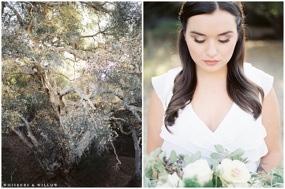 Fig natural makeup by Elena T Beauty | Herb winter wedding bouquet | Kinfolk wedding | Florals by Blooms by Breesa Lee | San Diego Fine Art Wedding Photography | Whiskers and Willow Photography.jpg