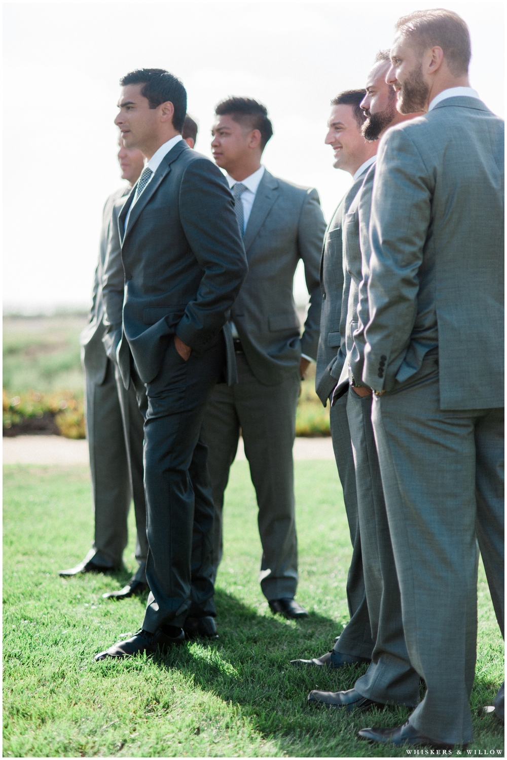 Groomsmen photos | Hilton Garden Inn Carlsbad wedding | San Diego Wedding Photographer | Whiskers & Willow Photography