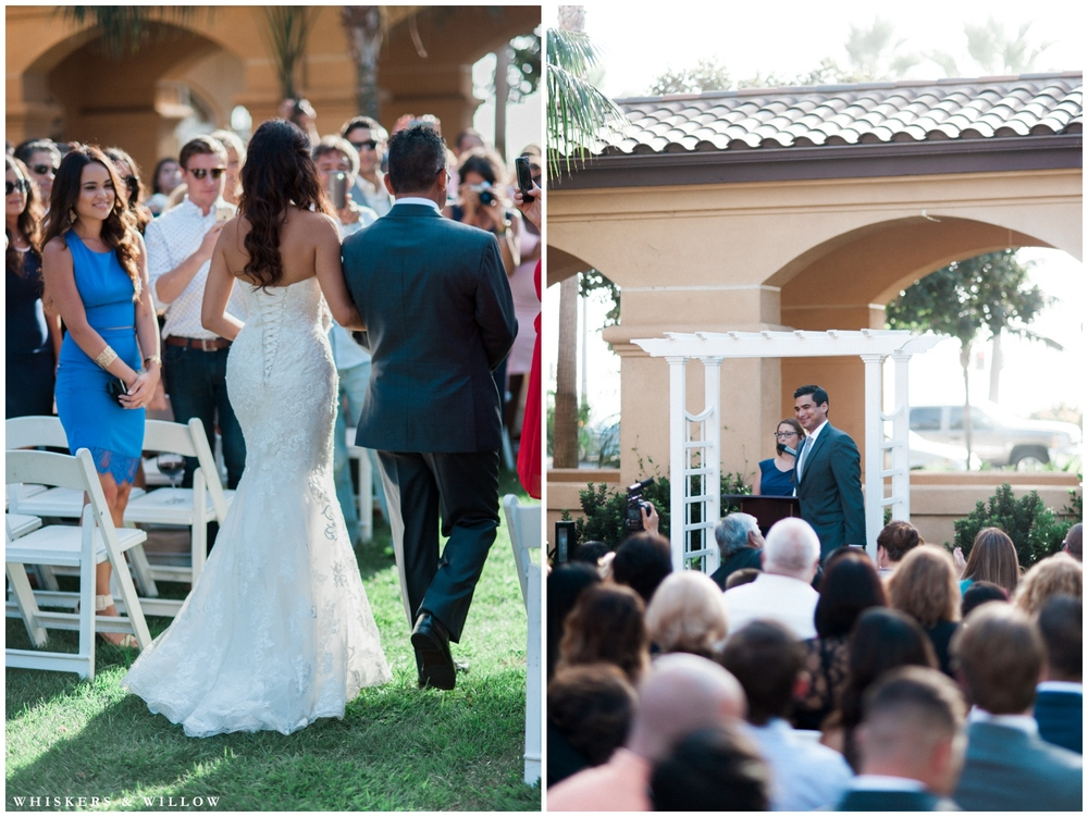 White Wedding | Hilton Garden Inn Carlsbad wedding | San Diego Wedding Photographer | Whiskers & Willow Photography