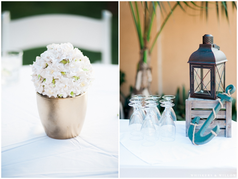 White and Blue Wedding | Hilton Garden Inn Carlsbad wedding | San Diego Wedding Photographer | Whiskers & Willow Photography
