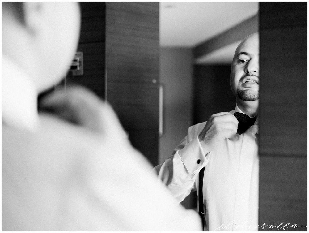 AT&T Center Wedding - LA Wedding - Groom Portraits - Getting Ready - Whiskers and Willow Photography