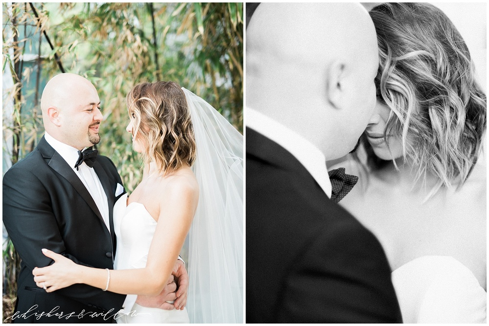 AT&T Center Wedding - LA Wedding - First Look - Whiskers and Willow Photography