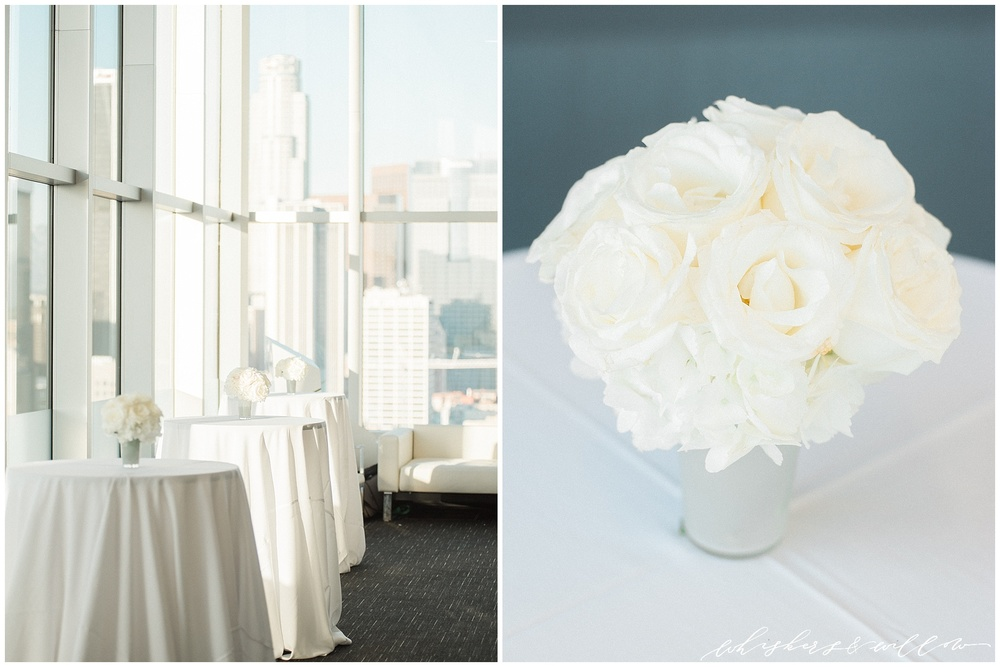 AT&T Center Wedding - LA Wedding - White Wedding - Modern Wedding - Celios Design - Whiskers and Willow Photography