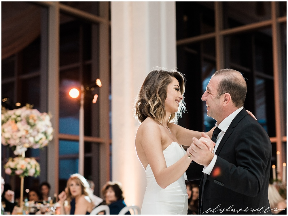 AT&T Center Wedding - LA Wedding - Blush Glam Wedding - Couture Wedding - Father Daughter Dance photo - Whiskers and Willow Photography