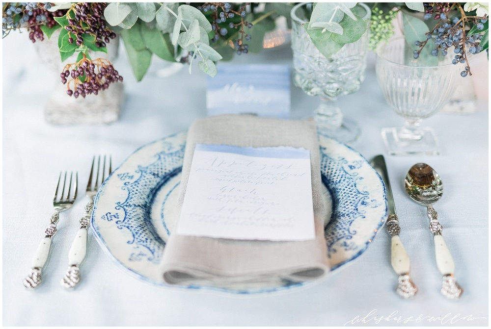Industrial Wedding Inspiration  | Calligraphy by Krisanna Elizabeth | Florals and Design by Kaleb Norman James | Whiskers and Willow Photography