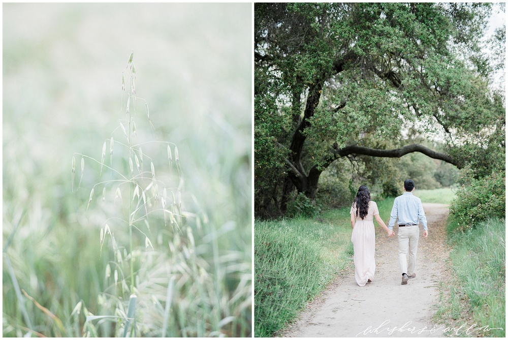 Thomas F Riley Wilderness Park Engagement photos | SoCal engagement | Blush pink maxi engagement outift | San Diego fine art photographer | Southern California film photography | Whiskers and Willow Photography