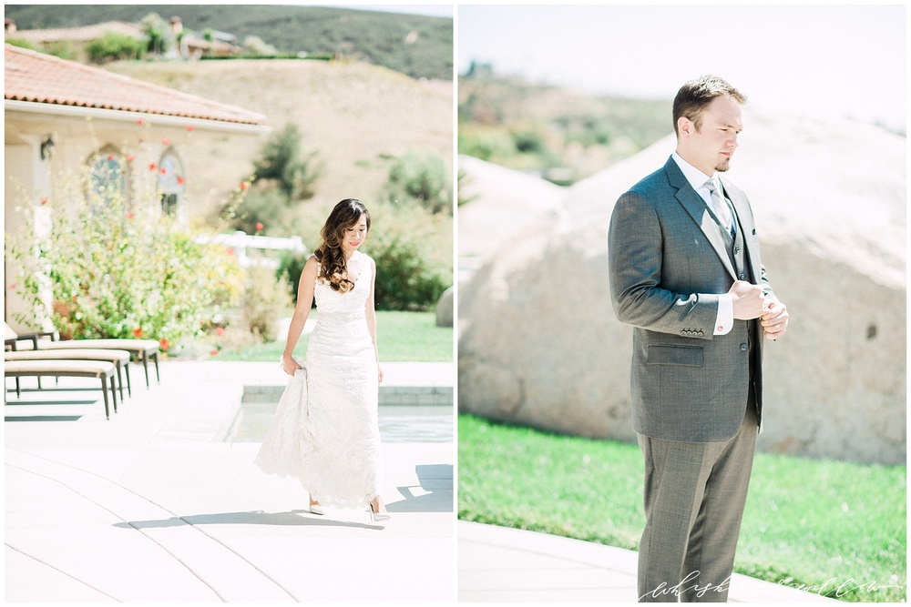 Temecula wedding - First Look - San Diego photographer - Whiskers and Willow Photography