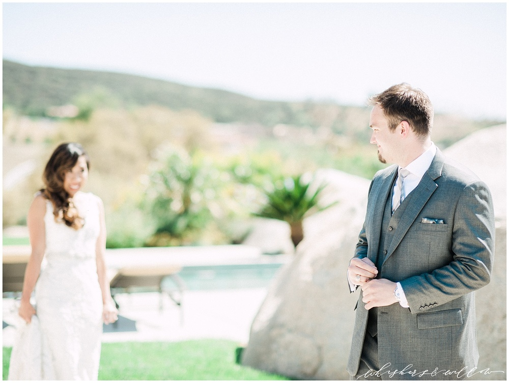 Temecula wedding - First Look photos - San Diego photographer - Whiskers and Willow Photography