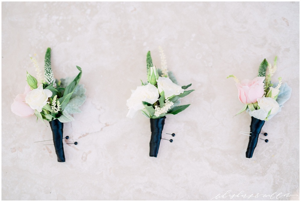Mount Palomar Winery wedding - Temecula wedding - Blush boutonnieres by Posh Peony - San Diego fine art photographer - Whiskers and Willow Photography