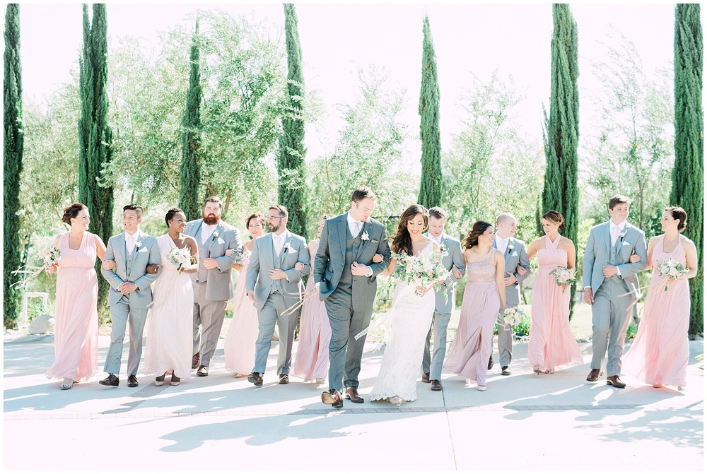 Mount Palomar Winery wedding - Temecula wedding - Blush and lavendar mismatched bridesmaids - Grey groomsman suit - Blush bouquet by Posh Peony - San Diego fine art photographer - Whiskers and Willow Photography