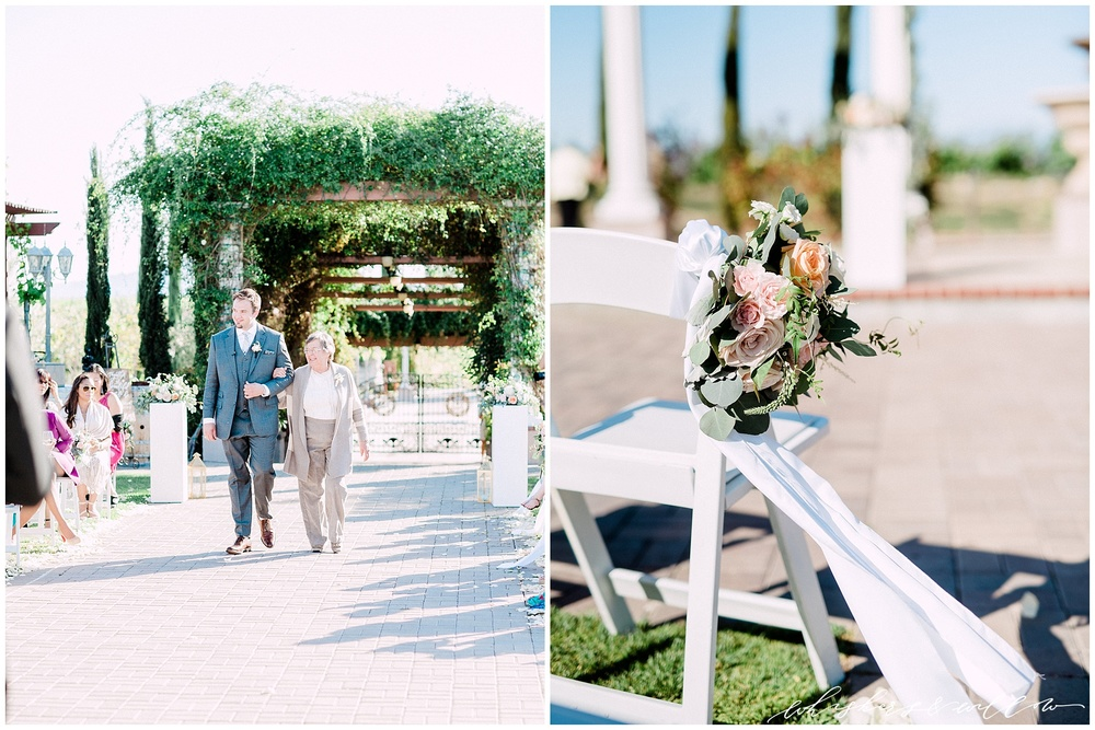 Mount Palomar Winery wedding - Temecula wedding - Ceremony site - Blush Florals by Posh Peony - San Diego fine art photographer - Whiskers and Willow Photography