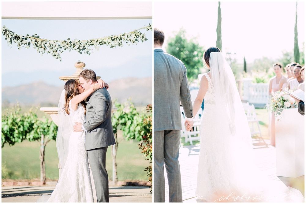 Mount Palomar Winery wedding - Temecula wedding - Ceremony- San Diego fine art photographer - Whiskers and Willow Photography